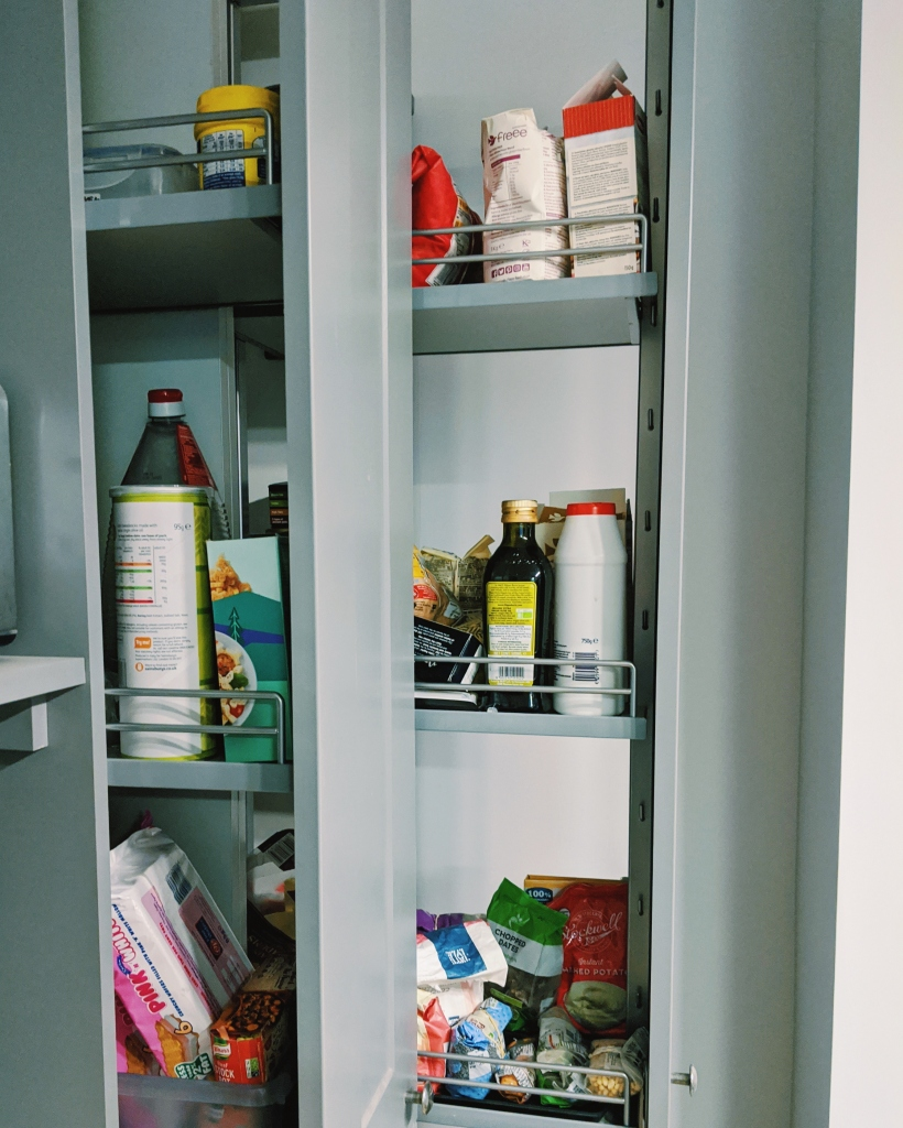 If possible, separate cupboards for gluten and non-gluten containing items is a good idea.