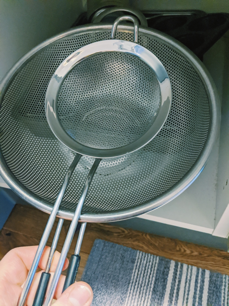 I have separate sieves and colanders for gf things, which I store separately from the others.