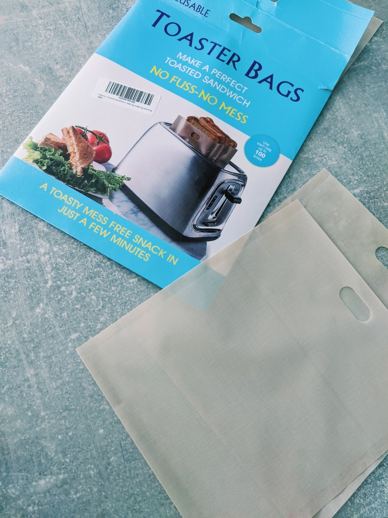 Toaster bags can also be used to make toasties in a toaster.